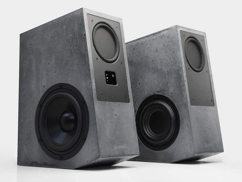 Concrete speaker VIRTUOSO by Gravelli