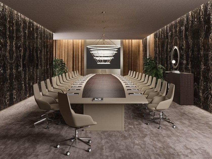Oval wooden meeting table BESPOKE CONFERENCE TABLES | Oval meeting table by PROF