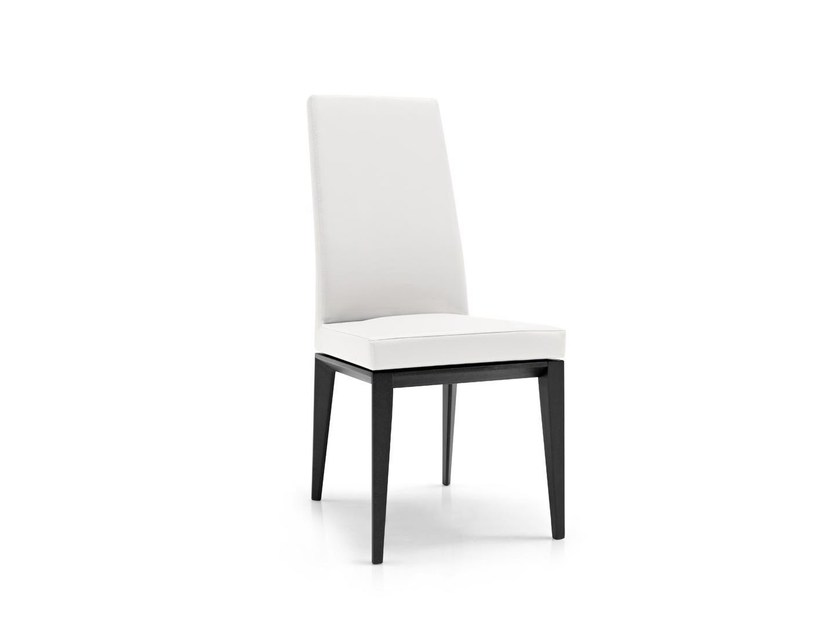 Upholstered leather chair BESS | Chair by Calligaris
