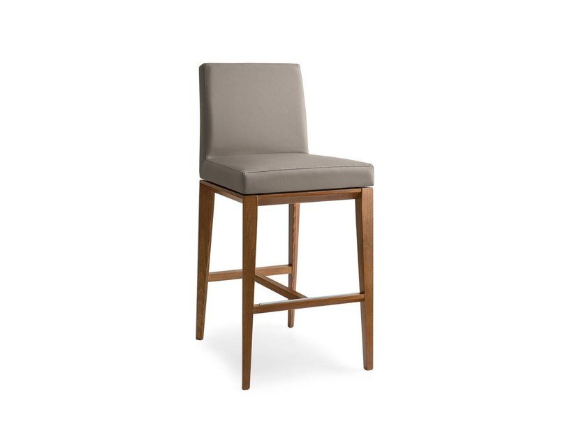 High Leather Barstool BESS | Stool By Calligaris