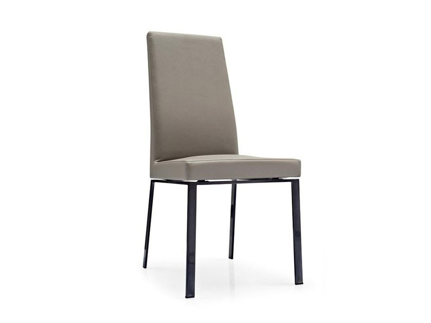 Upholstered leather chair BESS | Leather chair by Calligaris