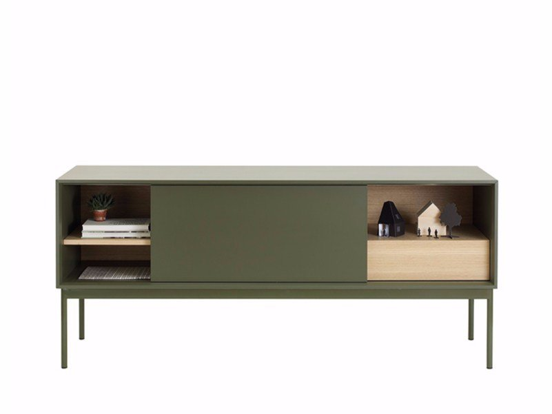 Lacquered sideboard with sliding doors BESSON B160 | Sideboard by ASPLUND