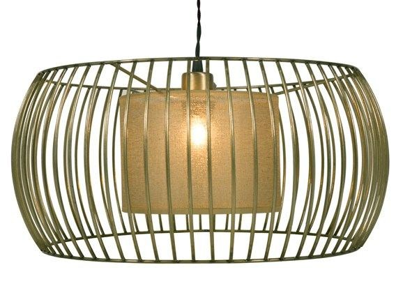 Metal pendant lamp BETA GOLD by Hamilton Conte Paris