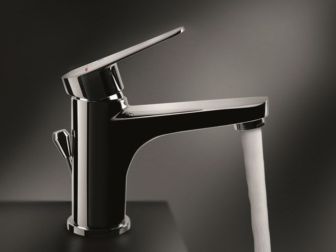 Single handle washbasin mixer with automatic pop-up waste BETA NEW by EMMEVI RUBINETTERIE