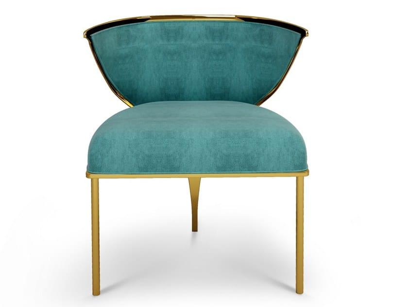 Upholstered velvet chair with armrests BETH by Ottiu