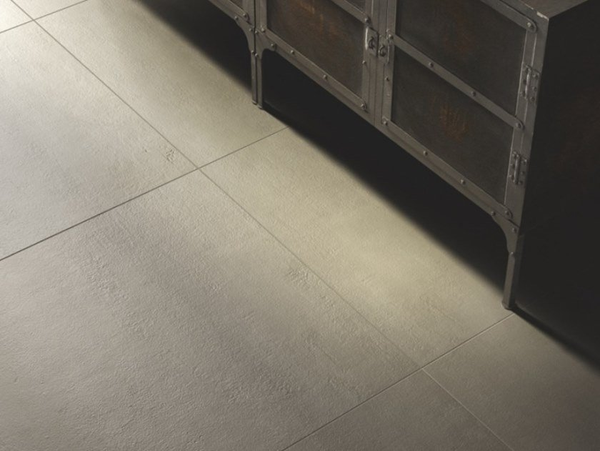 Pavimento in gres porcellanato effetto cemento BETON by Casalgrande Padana