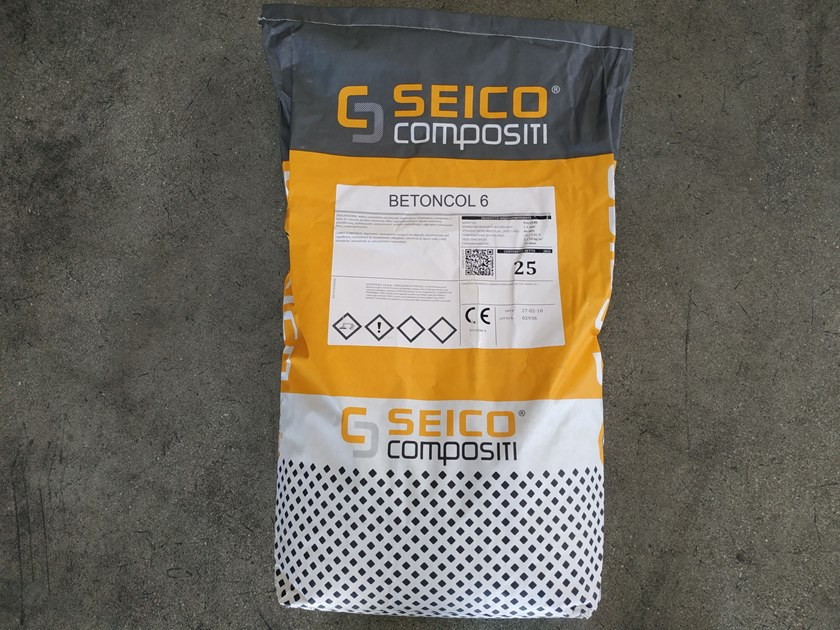 Mortar and grout for renovation BETONCOL 6 by Seico Compositi