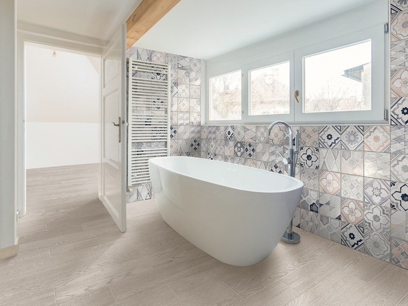 Full-body porcelain stoneware wall/floor tiles with wood effect BETONSTIL ASHWOOD by Terratinta Ceramiche