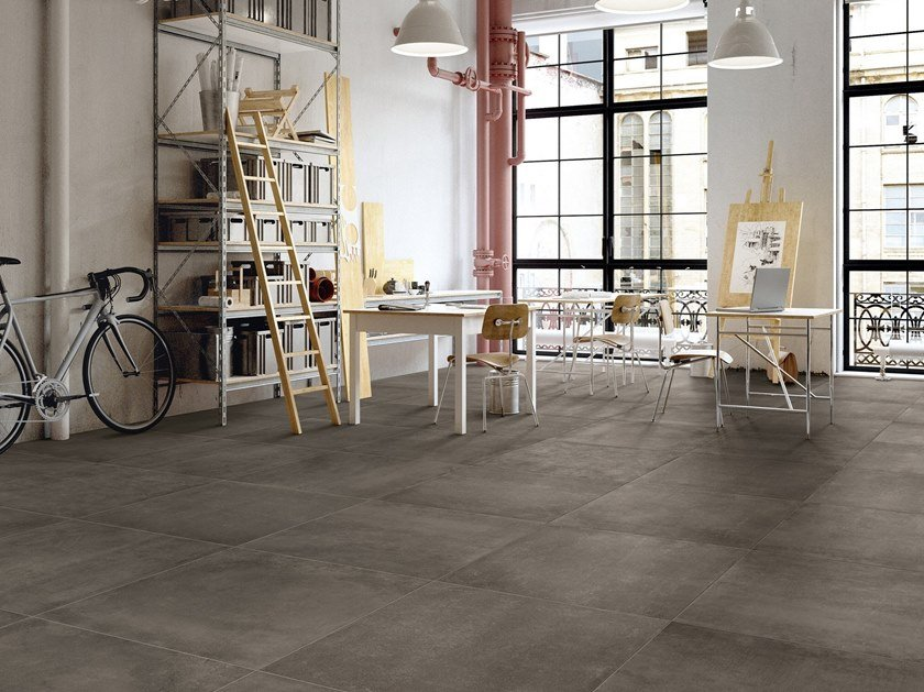 Porcelain stoneware wall/floor tiles with concrete effect BETONSTIL CONCRETE by Terratinta Ceramiche