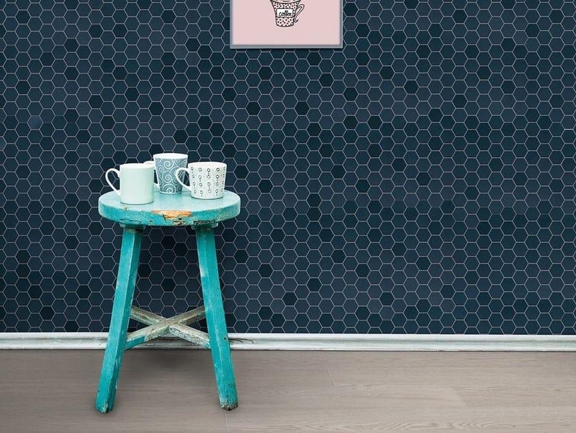 Porcelain stoneware mosaic BETONSTIL HEXA by Terratinta Ceramiche