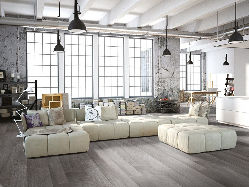 Porcelain stoneware flooring with wood effect BETONWOOD by Terratinta Ceramiche