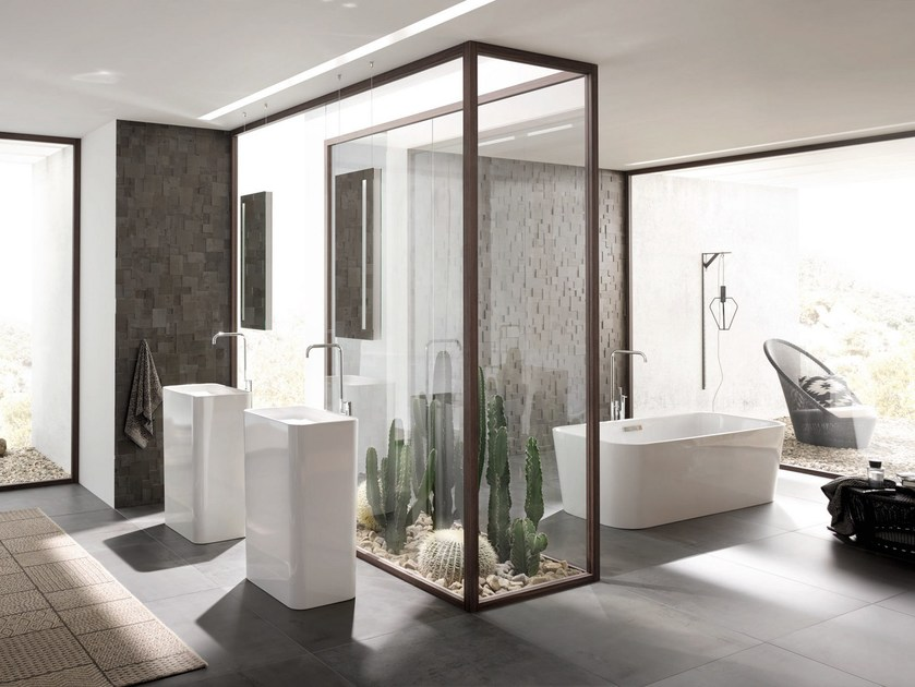 Lavabo freestanding in acciaio smaltato BETTEART MONOLITH by Bette