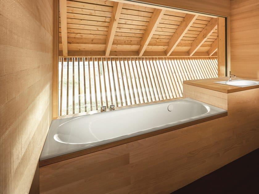 Rectangular enamelled steel bathtub BETTECOMODO | Bathtub by Bette