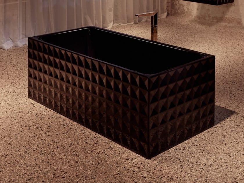 Rectangular enamelled steel bathtub BETTELOFT ORNAMENT | Bathtub by Bette