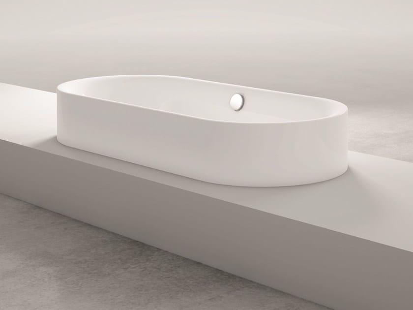 Semi-inset oval bathtub BETTELUX OVAL HIGHLINE by Bette