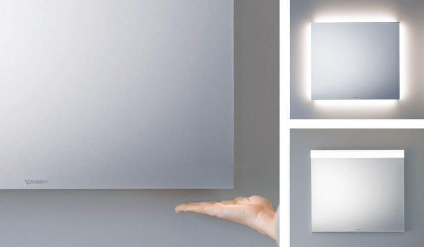 Specchio con illuminazione integrata da parete per bagno better