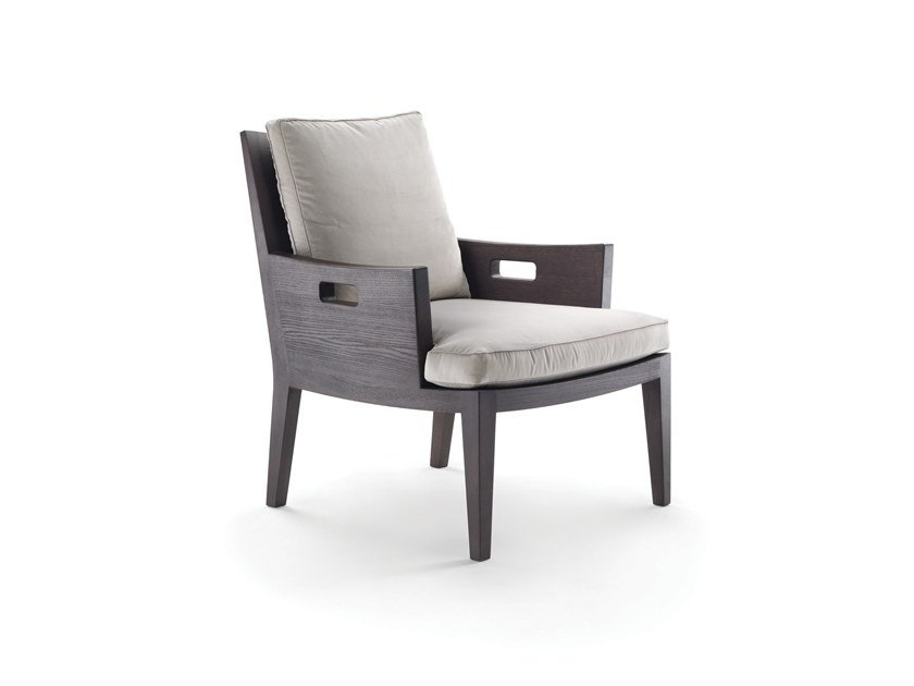 Solid Wood Armchair With Armrests BETTY | Armchair By FLEXFORM