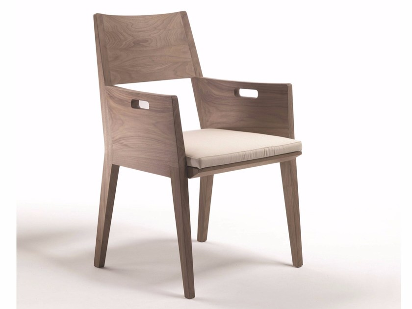 Solid wood chair with armrests BETTY | Chair with armrests by FLEXFORM