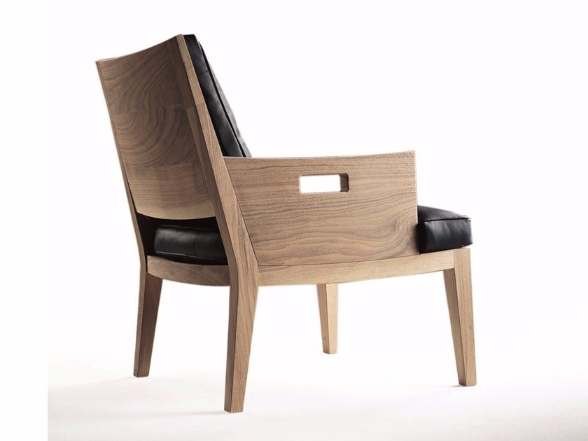 Solid wood easy chair with armrests BETTY   Easy chair by FLEXFORM