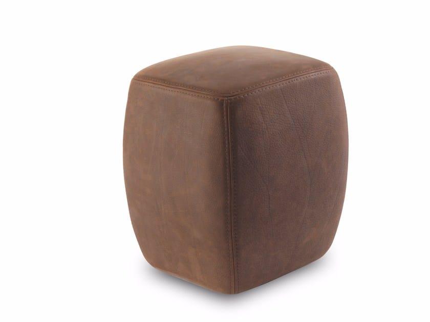 Upholstered leather pouf BETTY POUF & BETTY POUF SMALL by Riva 1920