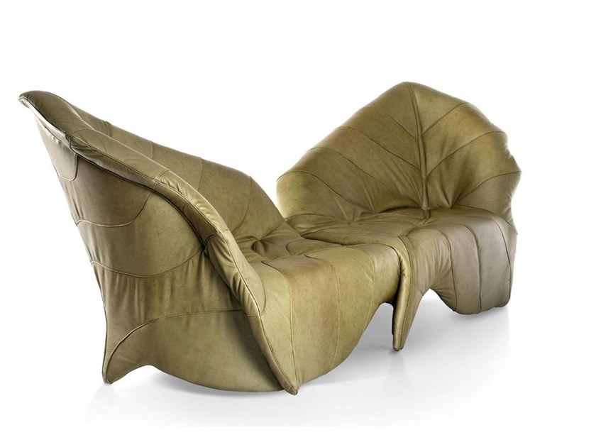 2 seater leather sofa BETULLA by Sicis
