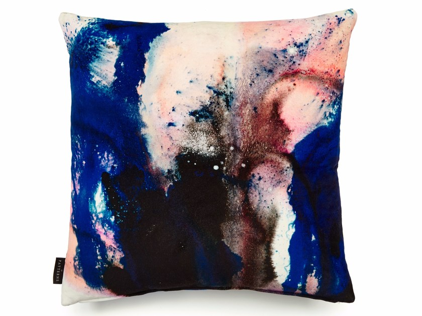 Square cotton cushion with removable cover BEYOND NEBULOUS   Square cushion by 17 patterns