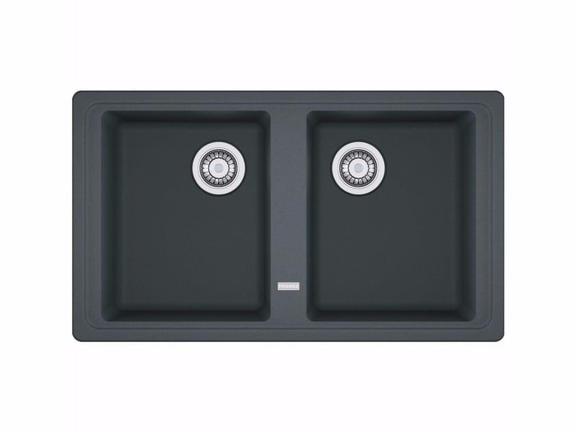 2 bowl built-in Fragranite® sink BFG 620 By FRANKE