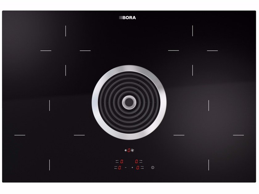 Hyper glass ceramic cooktop with cooktop extractor BHA by BORA