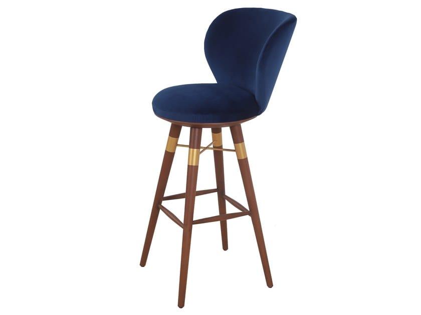 Fabric stool with back BHRAMI | Fabric stool by ALANKARAM