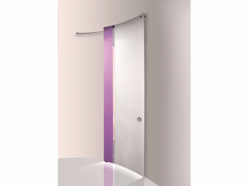 Stained glass sliding door BI•COLOR GRAPE - WHITE by Casali