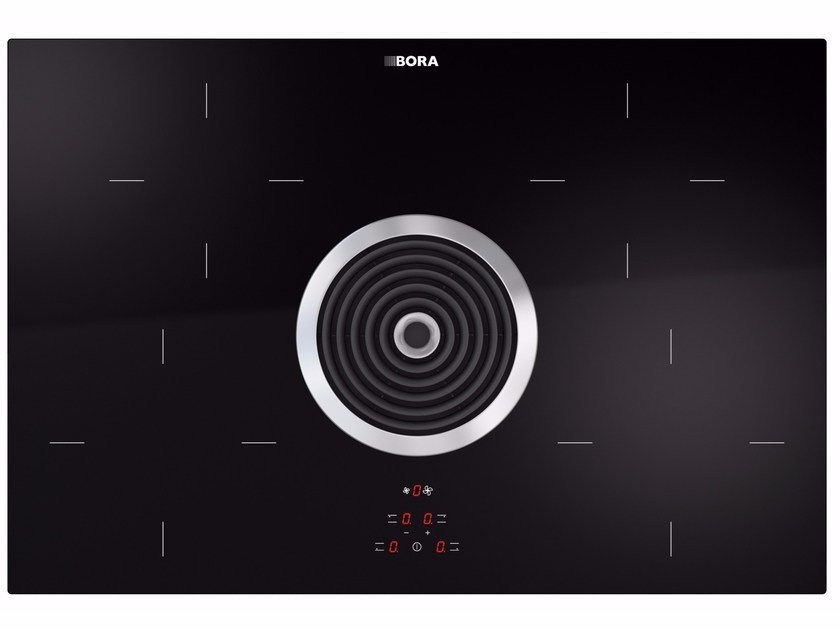 induction glass ceramic cooktop with cooktop extractor bia by bora design willi bruckbauer. Black Bedroom Furniture Sets. Home Design Ideas