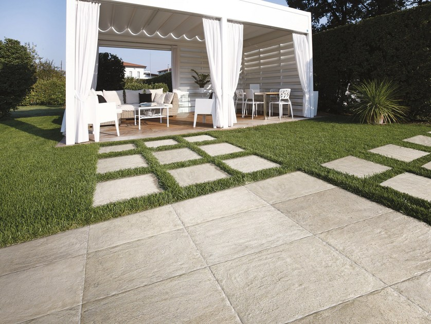 Glazed stoneware outdoor floor tiles BIARRITZ | Outdoor floor tiles by CIR