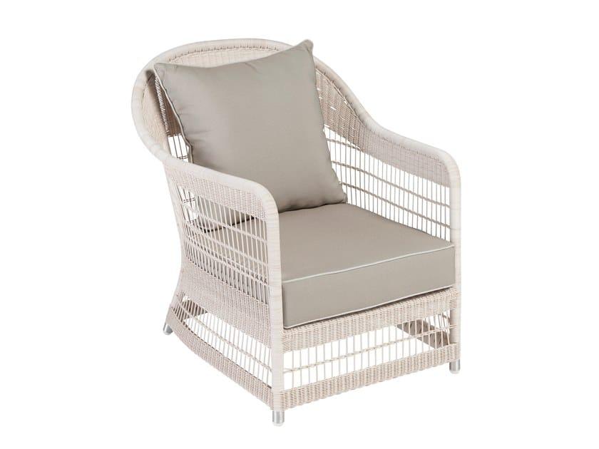 Garden armchair with armrests BIARRITZ | Garden armchair by Kok Maison