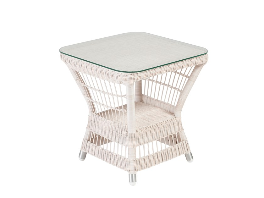 Square garden side table BIARRITZ | Square coffee table by Kok Maison