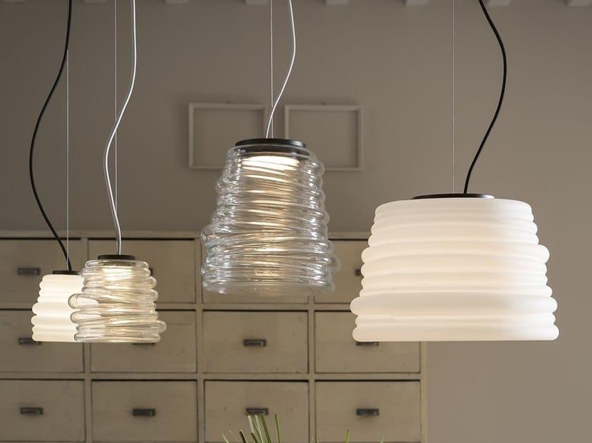 Glass pendant lamp BIBENDUM by Karman