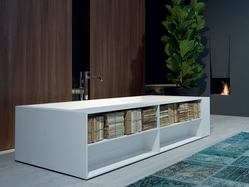 Corian® bathtub BIBLIO by Antonio Lupi Design