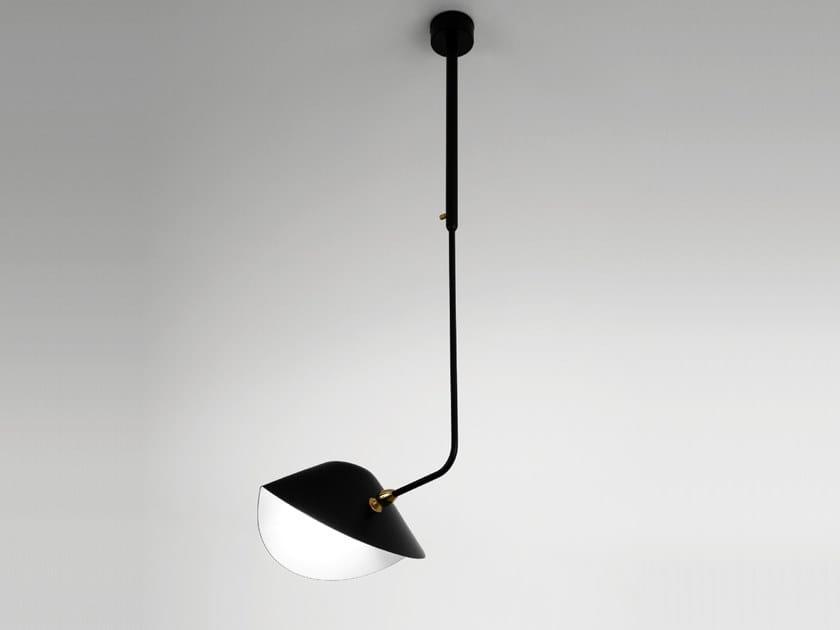 Lampada a sospensione orientabile in metallo BIBLIOTHÈQUE COURBE by Serge Mouille