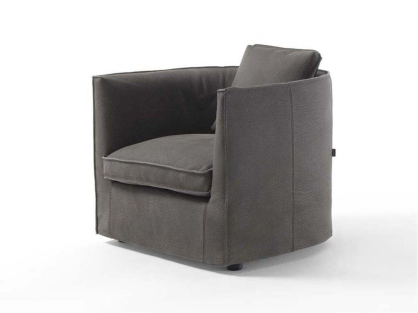 Upholstered fabric armchair with armrests BICE by Frigerio Salotti
