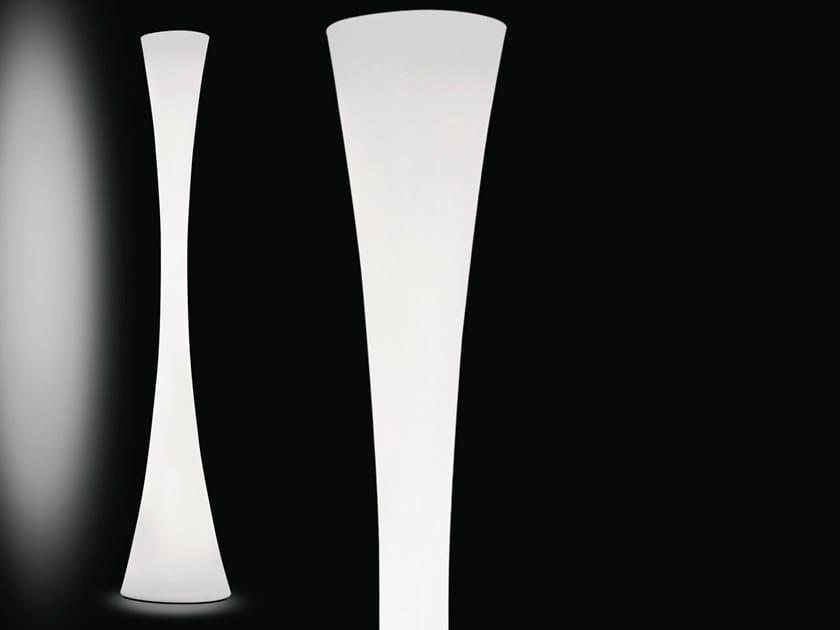 Polyethylene floor lamp BICONICA POL by Martinelli Luce