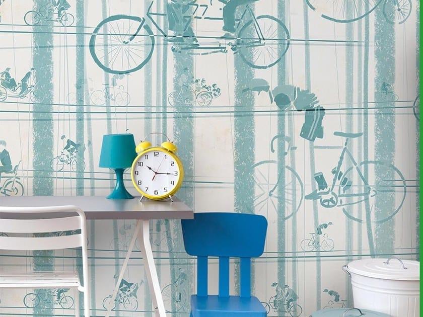 Papel de parede para crianças BICYCLES by Wallpepper Group