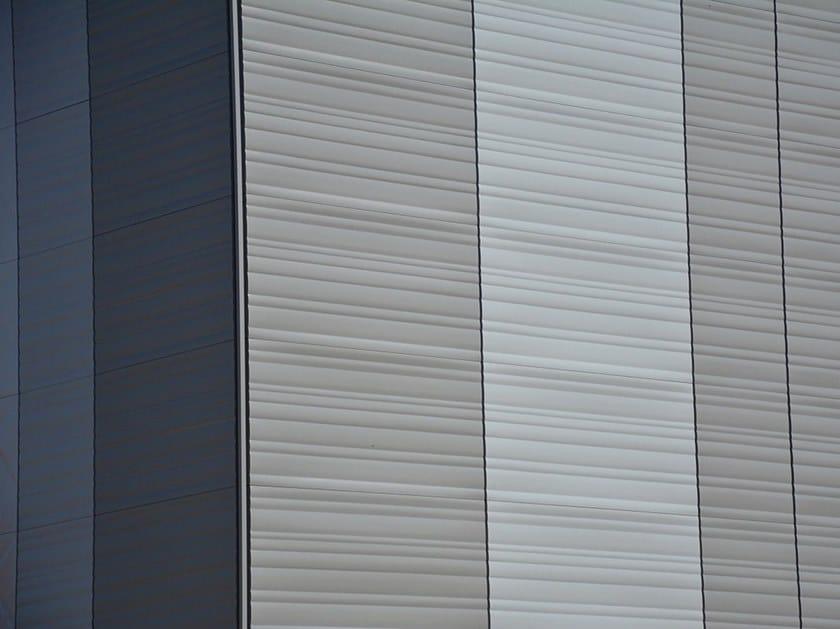 Pannello metallico tridimensionale di rivestimento BIG BAND by Emboss