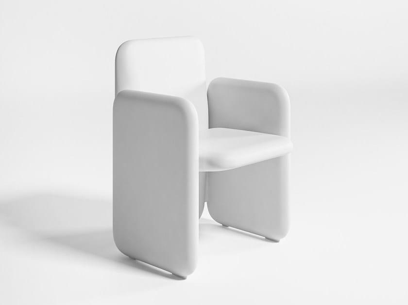 Polyethylene garden armchair with armrests BIG by GANDIA BLASCO
