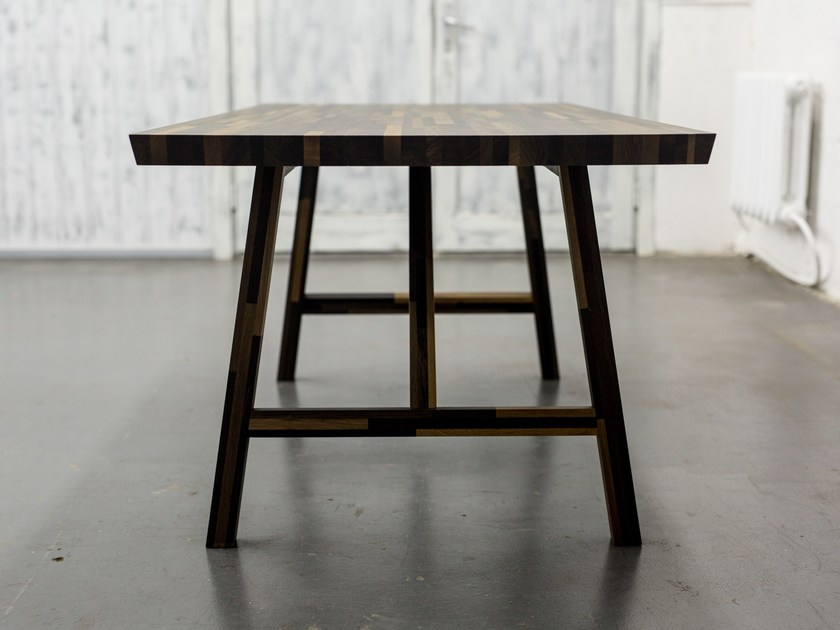 Rectangular bog oak table BIG INDUSTRIAL by EDWOOD