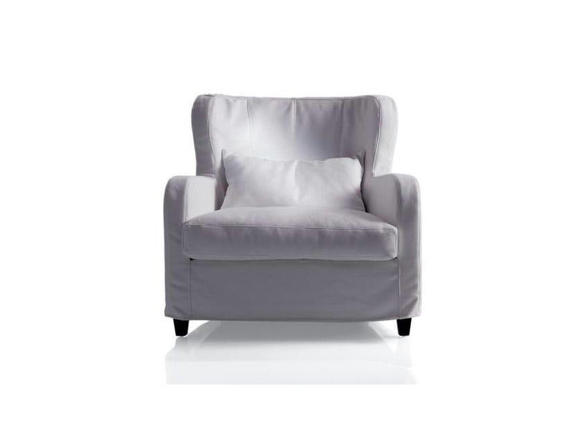Fabric armchair with armrests BIG MIMILLA | Fabric armchair by Marac