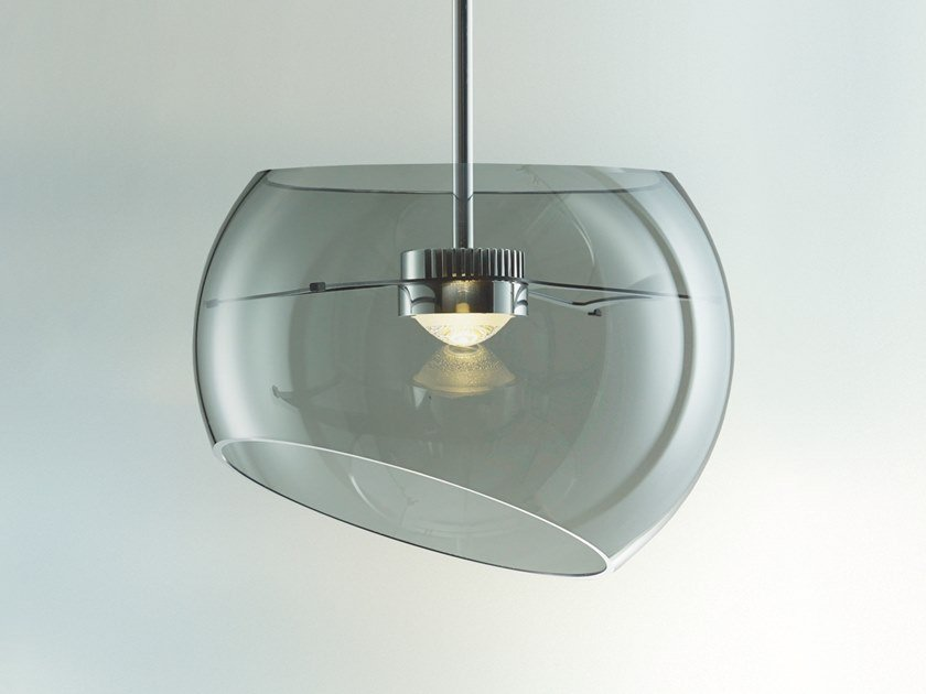LED blown glass pendant lamp BIG MOONS by LICHT IM RAUM