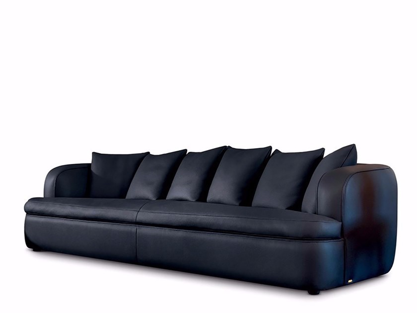 4 Seater Leather Sofa By Mascheroni