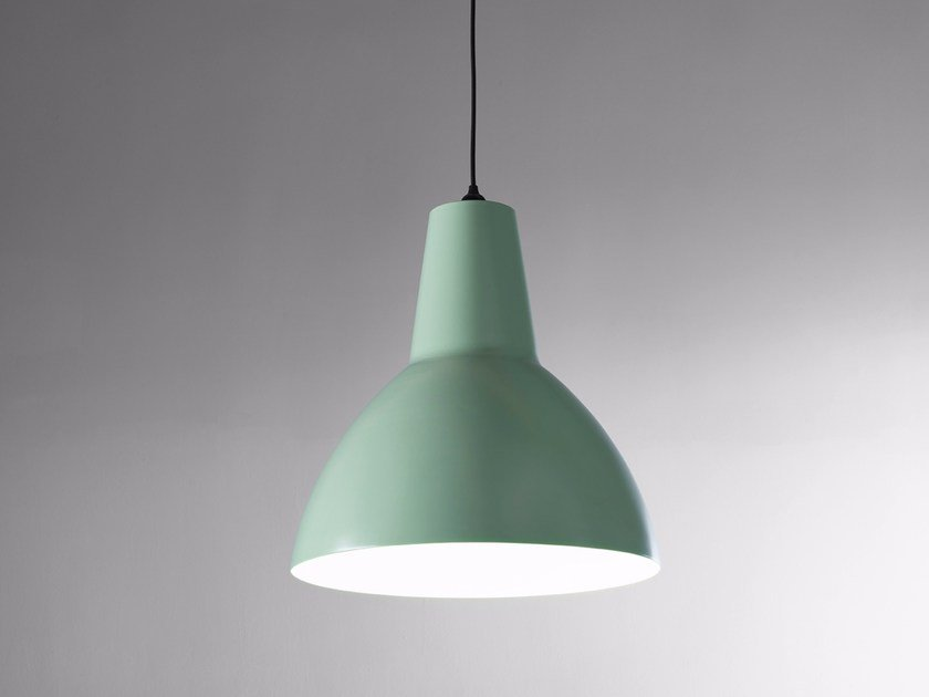 LED direct light thermo lacquered aluminium pendant lamp BIG S by Exporlux