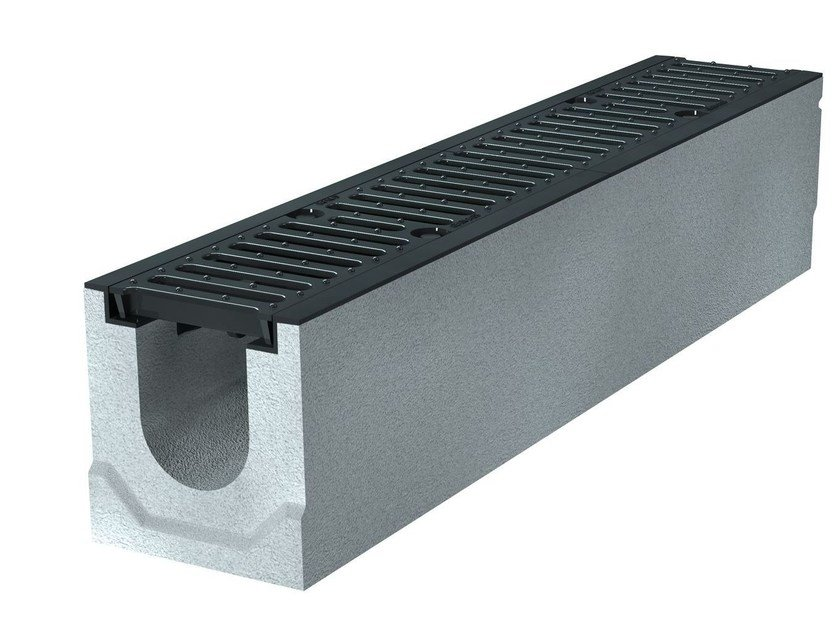 Concrete Drainage channel and part BIG47 100 H210 | Drainage channel and part by GREENPIPE