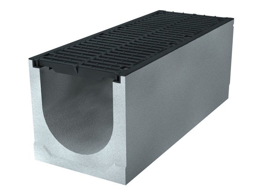 Concrete Drainage channel and part BIG47 300 H615 | Drainage channel and part by GREENPIPE