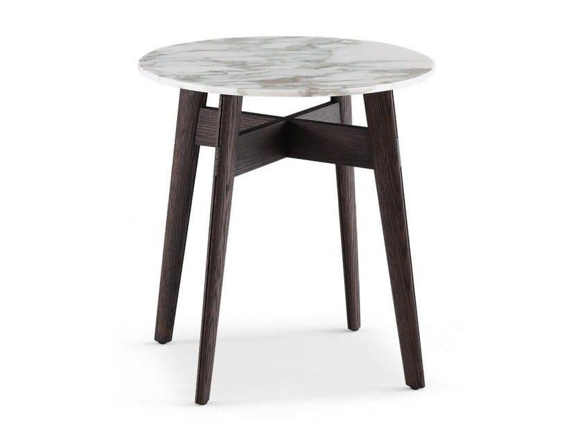 Tavolino rotondo in marmo BIGGER | Tavolino by poliform